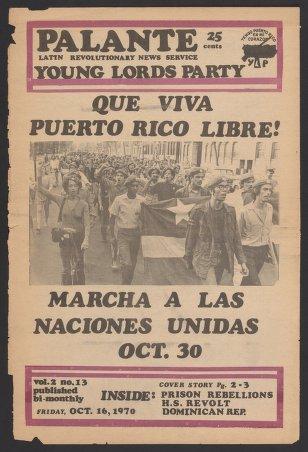 Palante, October 16, 1970