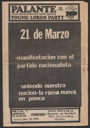 Palante, January 29, 1971