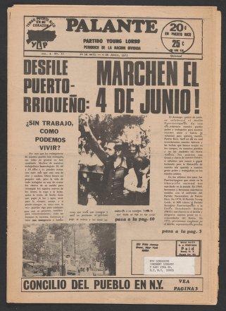 Palante, May 26-June 9, 1972