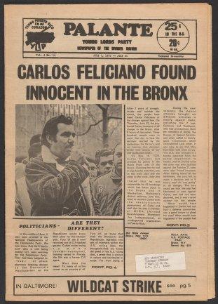 Palante, July 7-21, 1972