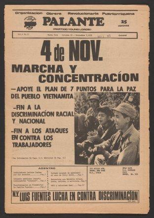 Palante, October 25-November 7, 1972