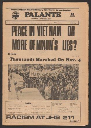 Palante, November 8-21, 1972