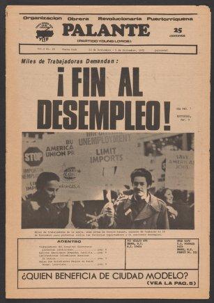 Palante, November 22-December 5, 1972