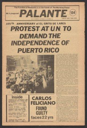 Palante, October 4-25, 1973