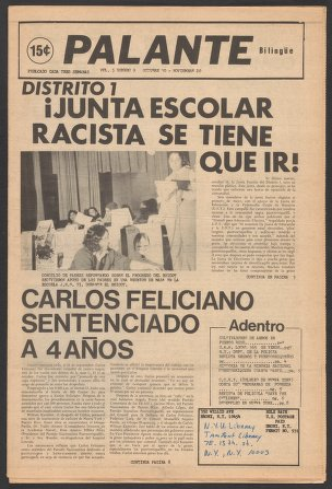 Palante, October 30-November 20, 1973