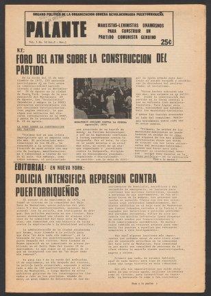 Palante, October 8-November 5, 1975