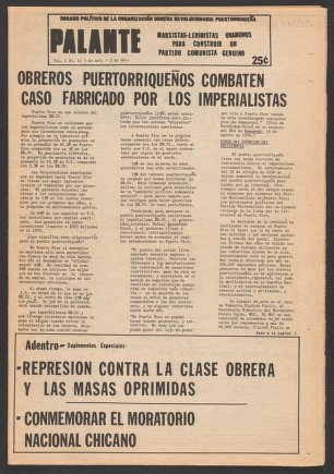 Palante, November 5-December 3, 1975