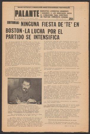 Palante, March 7-April 8, 1976